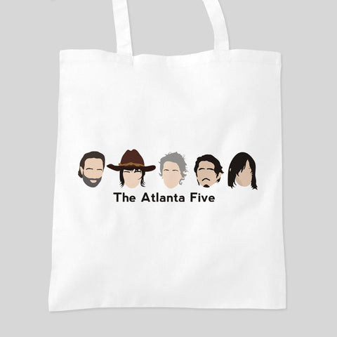 Fan Art Unofficial The Walking Dead Atlanta Five Tote Bag