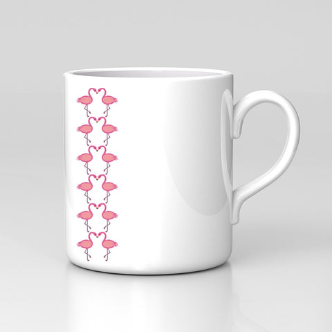 Small Flamingo Repeat Pattern Modern Cute Pink Animal Mug Great Birthday Xmas Gift New