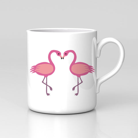 Two Flamingos Love Cute Husband Wife Anniversary Animal Mug Great Birthday Xmas Gift New