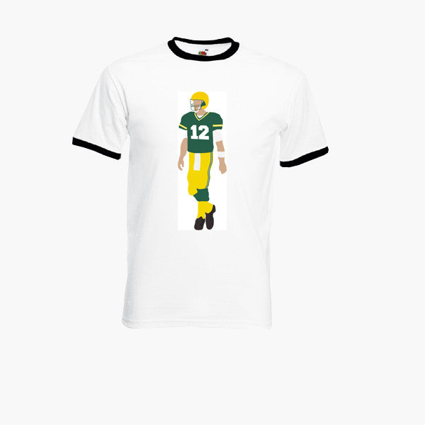 Aaron Rodgers Green Bay Packers quarterback NFL Ringer T-Shirt Unisex Tee S - 3XL New