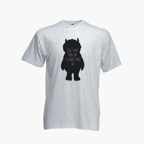 Where The Wild Things Are I'll Eat You Up Fan Art Unofficial T-Shirt Boys Girls Kids Childrens New