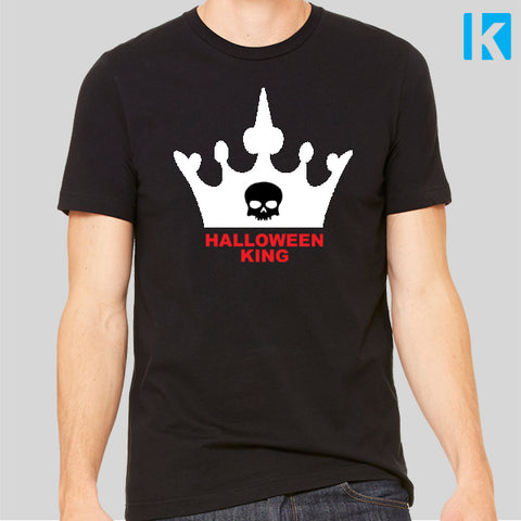 Halloween King Spooky Skull Scary Horror Costume Top Tshirt Mens Unisex