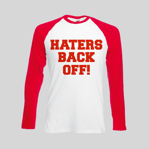 Haters Back Off Text Miranda Sings Black Red Unofficial T-Shirt Long Sleeve Retro S - 2XL New