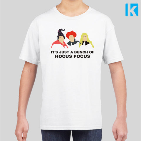 It's Just A Bunch Of Hocus Pocus Film Fan Art Halloween Kids Childrens T Shirt Tee Top New
