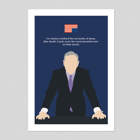 House Of Cards Underwood Fanart Minimal Poster Tv Show Print 180gm A1-3 Spacey