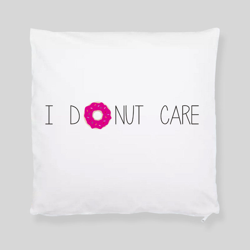I Donut Care Funny Tumblr Hipster Throw Pillowcase