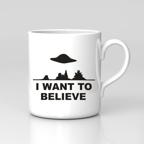 I Want To Believe X Files Aliens TV Mug