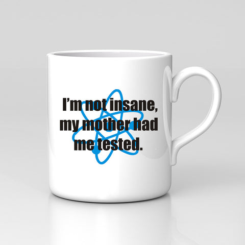 I'm Not Insane Big Bang Theory Geek Sheldon Funny Mug Birthday Xmas Gift New