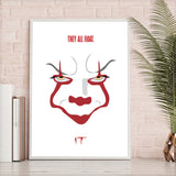 Stephen Kings IT Pennywise Clown Movie Horror Poster New 180gm A1-3 2017 Scary