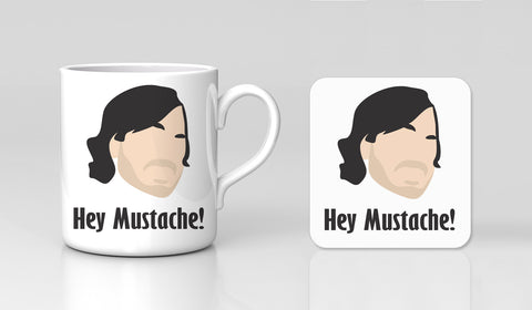 Impractical Jokers Hey Mustache Ferret Larry! Sexy Mug & Coaster Gift Set New
