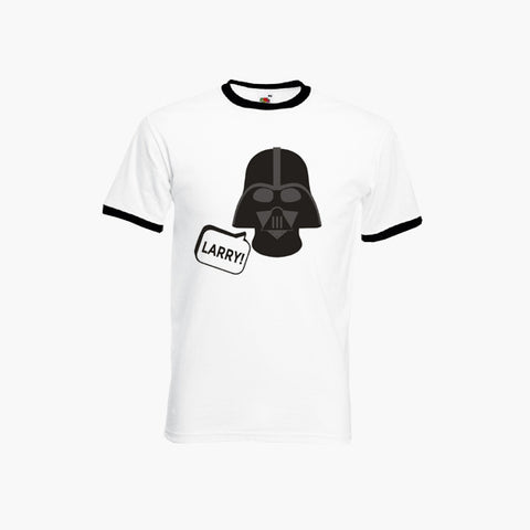 Impractical Jokers Larry! Q Sal Darth Vader Comedy T-Shirt Ringer Top S-2XL New