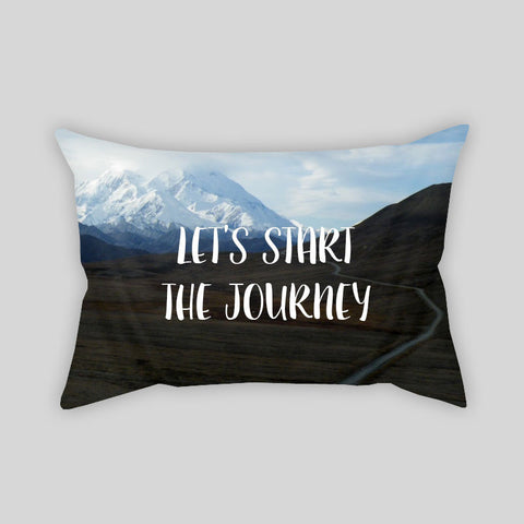 Let's Start A Journey Travel Adventure Throw Pillowcase Rectangle Sofa Couch 100% Cotton