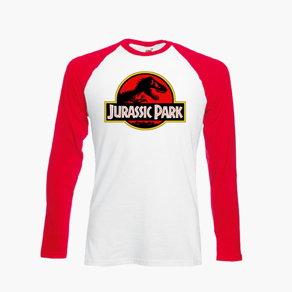Jurassic Park Film Tee Tshirt logo movie Dinosaur FOTL Long Sleeve all sizes New