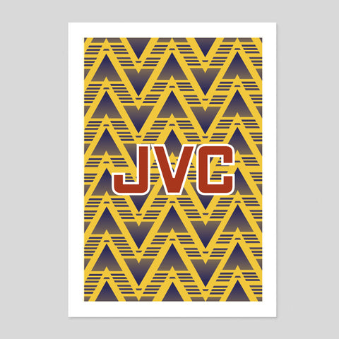 Arsenal 1991 Away Retro Football Soccer Ian Wright David Seaman Poster Minimal Print