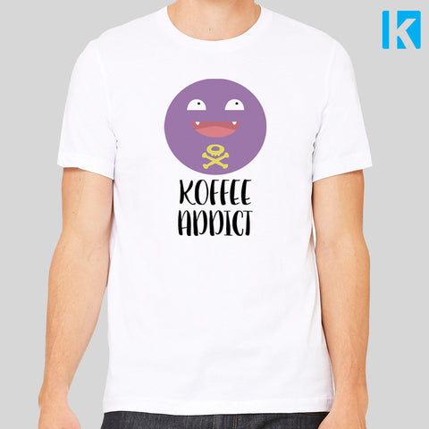 Koffee Addict Koffing Fan Art Pokemon Coffee Retro Cartoon T-Shirt Unisex Tee S - 3XL New