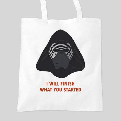 Star Wars The Force Awakens Kylo Ren Fan Art Tote Bag