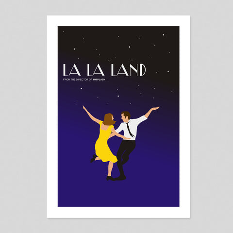 La La Land Film Minimal Poster Ryan Gosling Illustration House Art Print