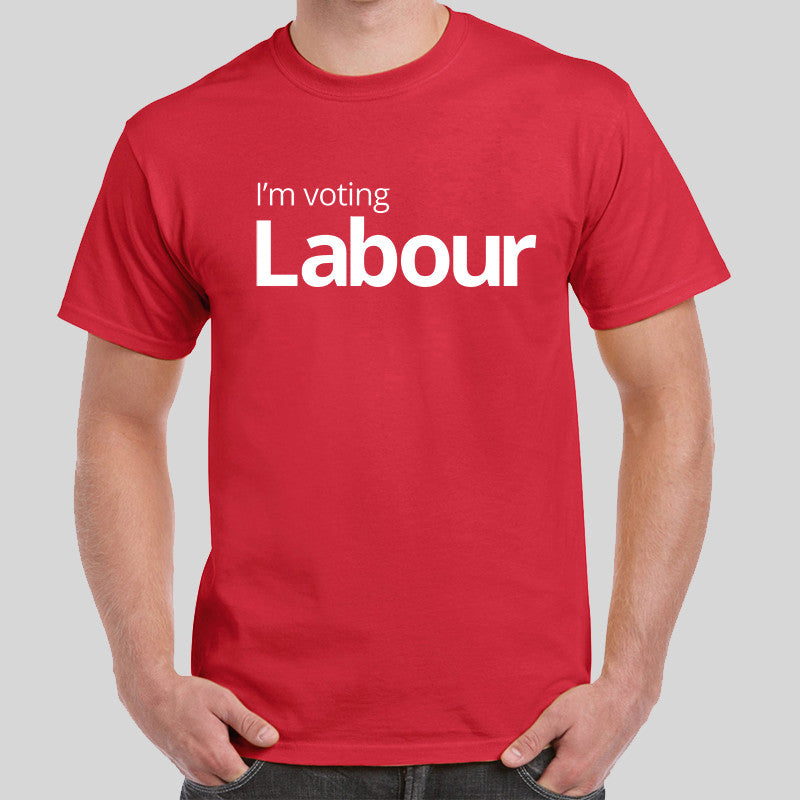 c84759dd54 Vote Labour T Shirt Mens Top Snap May Government Jeremy Corbyn Election UK  EU Listed for charity