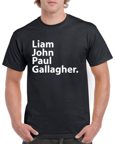 Oasis Liam John Paul Gallagher RKID Noel Gallagher Music T-Shirt tee Unisex tee Adult Oasis Band Top Funny Oasis Band Tour Birthday Xmas Gift