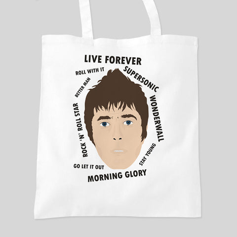 Liam Gallagher Oasis Fan Art Music Tour  Tote Bag