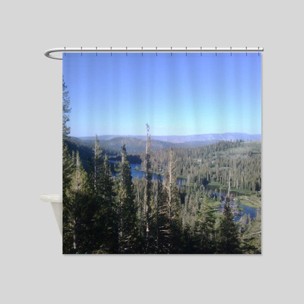 Mammoth Lakes California Road Trip Bears Scenery Shower Curtains