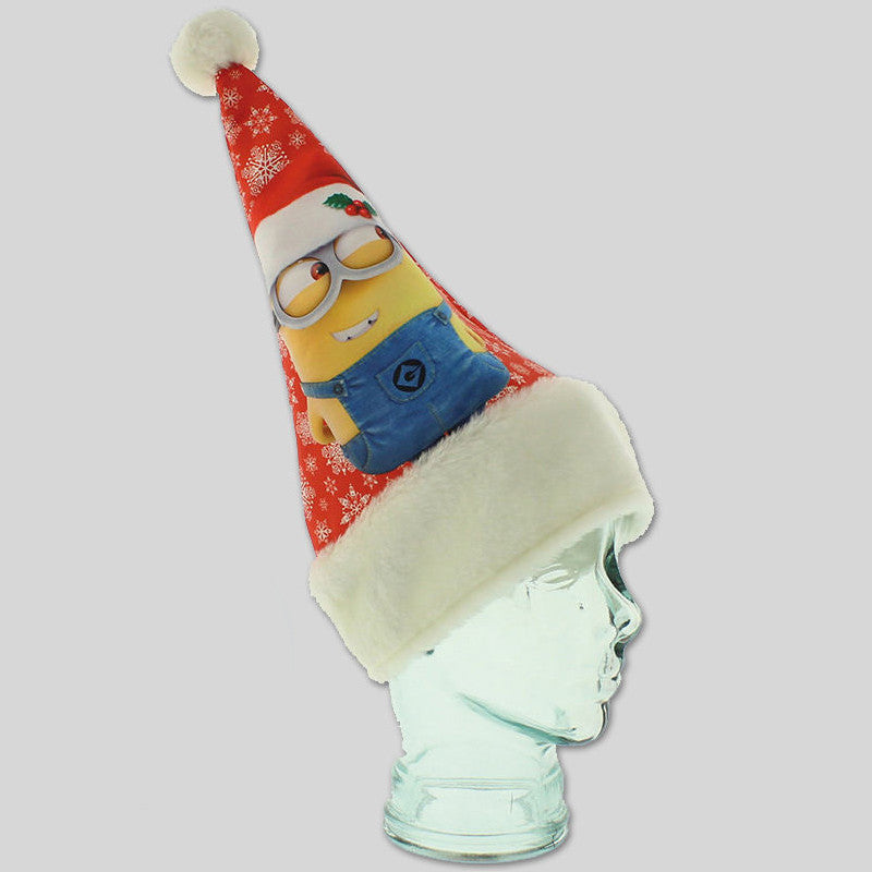 Christmas Minion Movie Kids Hat Xmas Fancy Dress Santa Gift Adult Bob Stuart