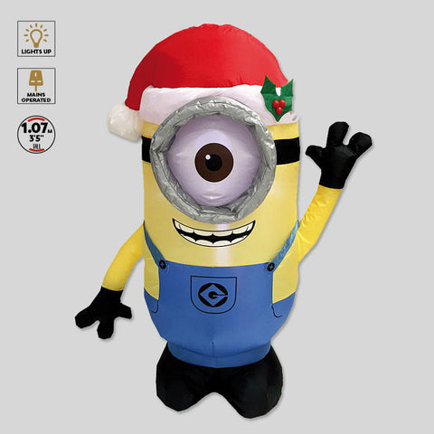 despicable me minion christmas lights inflatable 1m led decoration festive xmas