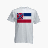 Mississippi USA T Shirt Tee Top Retro State Flag River Jackson Unisex S-3XL New