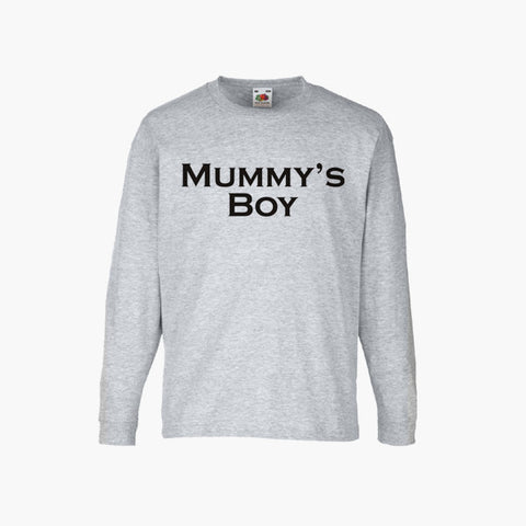 Mummy's Boy T-Shirt Long Sleeve Boys Kids Childrens New