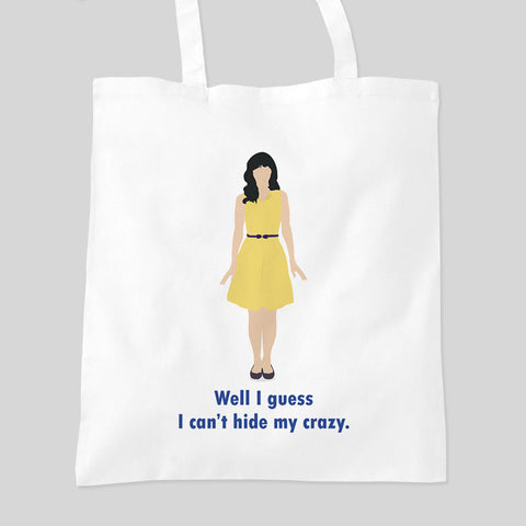 New Girl Zooey Deschanel Tv Show Funny Comedy  Fan Art Tote Bag