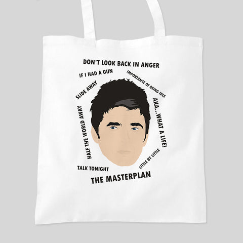 Noel Gallagher Oasis Fan Art Music Tour Tote Bag