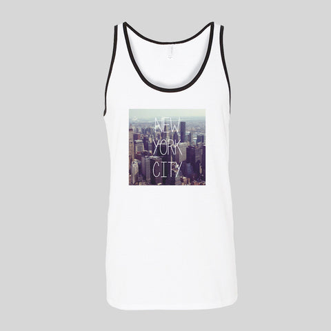 New York City Skyline Travel Festival Unisex Jersey Tank Top