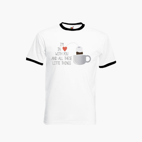 One Direction Little Things Fan Art Unofficial T-Shirt Ringer Top S-2XL New