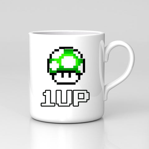 Mario Bros 1 UP! Toad Nintendo Retro 80's Game Mug Great Birthday Xmas Gift New