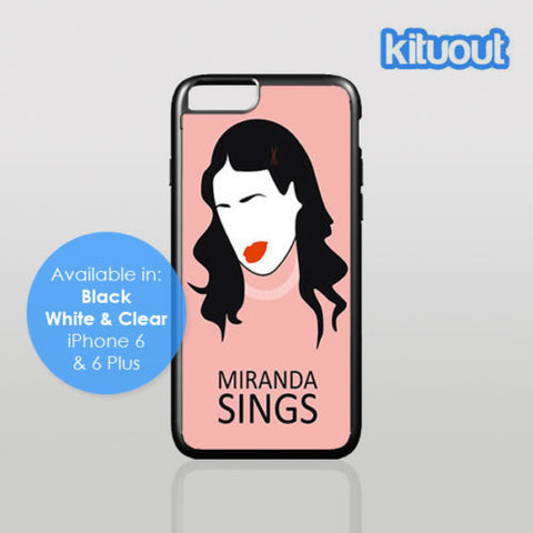 Miranda Sings Viner Youtube Comedy iPhone 5, 6/6 Plus Black White Case Cover New