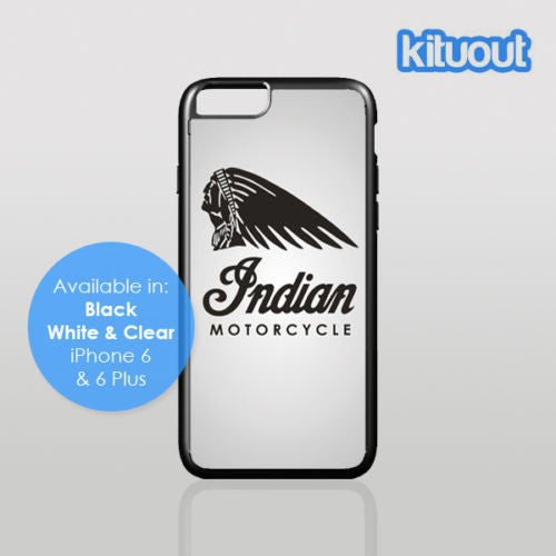 Indian Motorcycle Biker Motor Bike iPhone 5, 6/6 Plus Black White Case Cover New