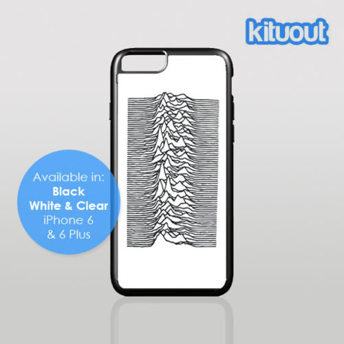 Joy Division Unknown Pleasures Music iPhone 5, 6/6 Plus Black White Case Cover New