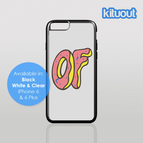 ODD FUTURE DOUGHNUT OFWGKTA Tyler Wolf Gang iPhone 5, 6/6 Plus Black Case Cover New