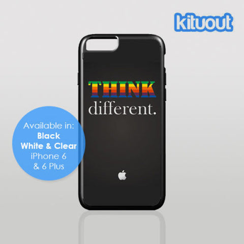 Steve Jobs Apple Think Different iPhone 5, 6/6 Plus Clear Black White Case Cover