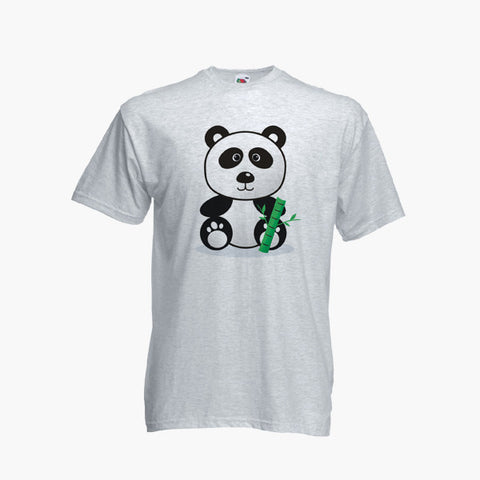 Panda Cartoon Cute Funny Illustration T-Shirt Boys Girls Kids Childrens New