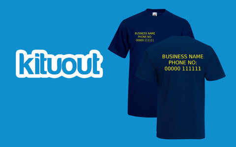 Personalised Custom Front/Back Print Text T-Shirt Work Advertising Business New