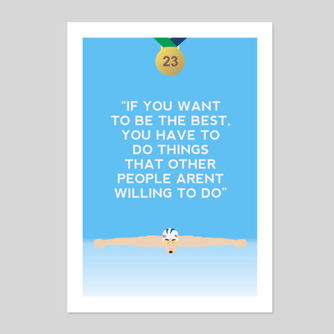 Phelps Gold Olympic Games USA Quote Motivational Rio Poster Print 180gm A1-3 New