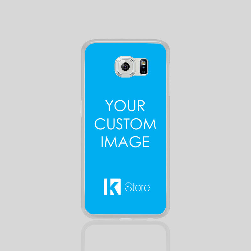 Custom Phone Cover Image/Logo Samsung Galaxy S6 Phone Black White Case