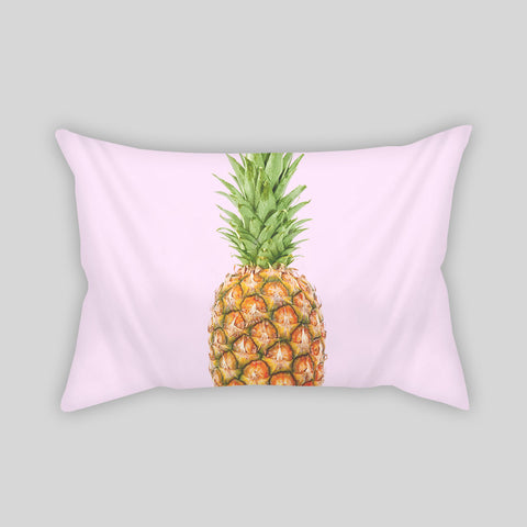 Pineapple Fruit Beach Tropical Cute Room Throw Pillow Rectangle Sofa Couch Home