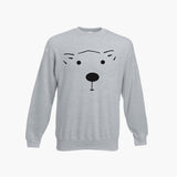 Bear Face Christmas Sweatshirt FOTL Jumper The Bear and the Hare Xmas S - 3XL