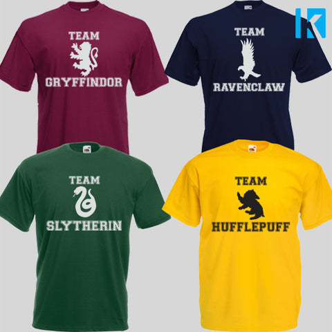 Harry Potter House Ravenclaw Gryffindor Slytherin Huffle T-shirt Unisex Tee Mens