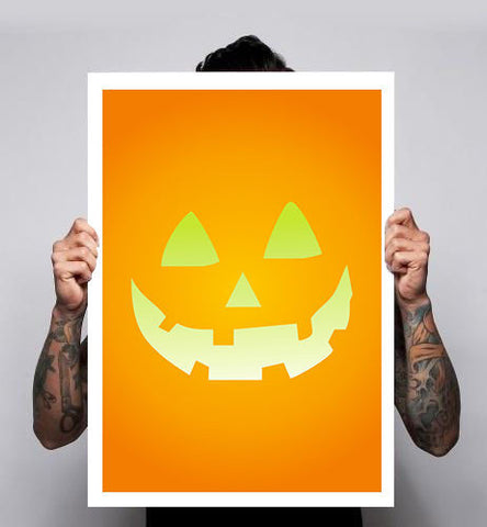 Pumpkin Horror Halloween Scary Poster Print Image Retro 180gm A1-3 New