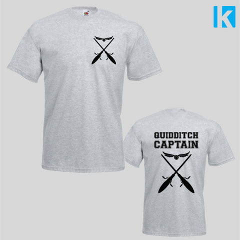 Quidditch Captain Harry Potter Film Fan Art Mens Womens Unisex Top Tshirt
