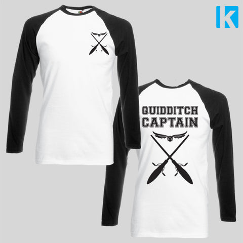 Quidditch Captain Harry Potter Film Fan Art Top T Shirt Long Sleeve S-2XL New