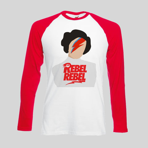 Rebel Rebel Princess Leia Carrie Fisher Tribute Tee T Shirt Long Sleeve Unisex
